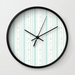 Blush green bohemian arrows zigzag geometrical Wall Clock