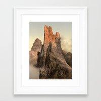 spires Framed Art Prints featuring Rocky Spires by Vintage Photochroms