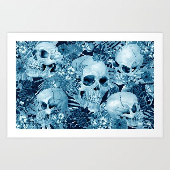 tropic skull Art Print