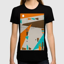 Mid-Century Rectangles Abstract T-shirt