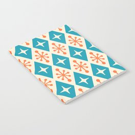 Mid Century Modern Atomic Triangle Pattern 107 Notebook