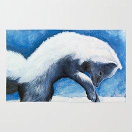 Animal - Antoine the Artic Fox - by LiliFlore Rug