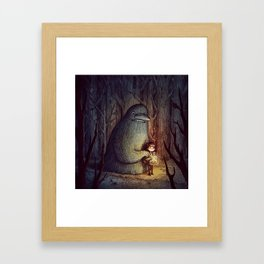 The Groke Framed Art Print