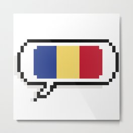 romanian flag Metal Print