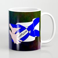 scotland Mugs featuring Rugby Scotland Flag by mailboxdisco
