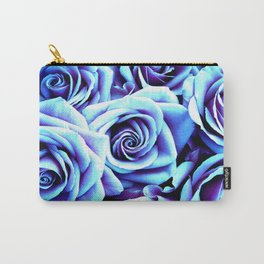 Bright Blue Flowers Carry-All Pouch
