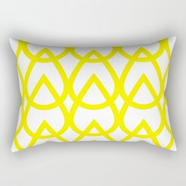 white and yellow drops pattern Rectangular Pillow