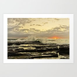 Sun Rise the golden light  Art Print