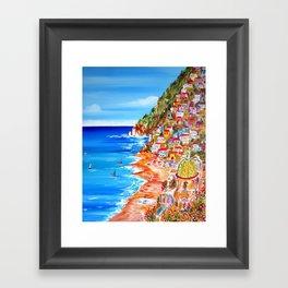 La Bella POSITANO by the Amalfi Coast Framed Art Print