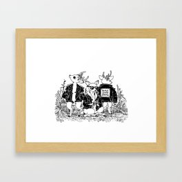 The Triple Dare Deerz Framed Art Print