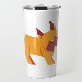 Origami French Bulldog Travel Mug