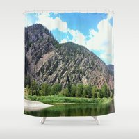 montana Shower Curtains featuring Montana Rock  by OrdinaryAdventures