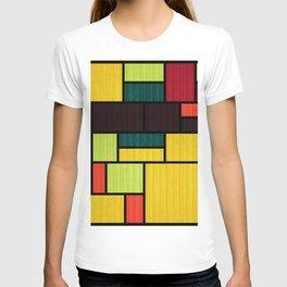 Mondrian Bauhaus Pattern #09 T-shirt