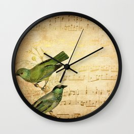 Vintage gold Music #6 Wall Clock