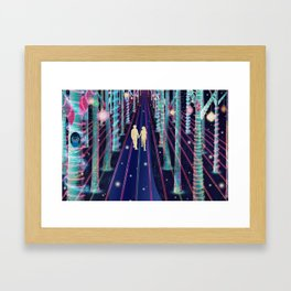 Walking in the Magic Forest Framed Art Print