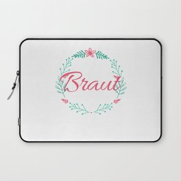 Bride Shirt Ideas Ladies with Flowers Laptop Sleeve