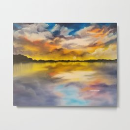 Dramatic Dream, beautiful sky, sunset, waterscape, skyscape Metal Print
