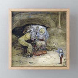 """The Boy Who Was Never Afraid"" by John Bauer Framed Mini Art Print"