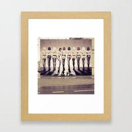 delightful bum ehm cityscape (bum bum) Framed Art Print