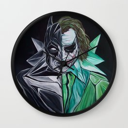 Two Face Bat PART2 Wall Clock
