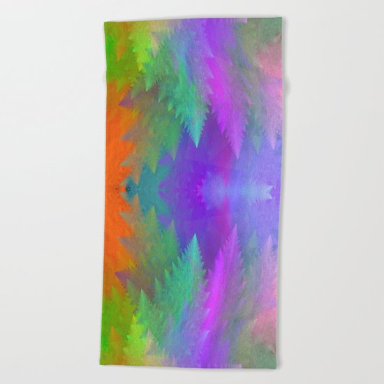 Pastel forest Beach Towel
