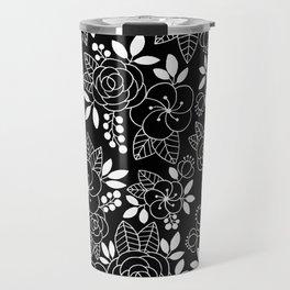 Rosalia Black Travel Mug
