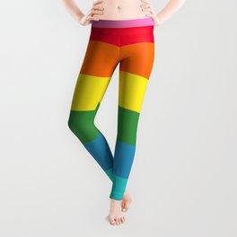 Stripes of Rainbow Colors Leggings