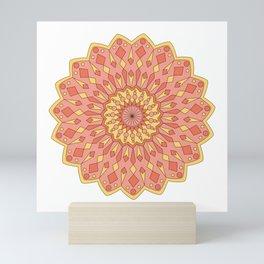 Pastel pink mandala  Mini Art Print