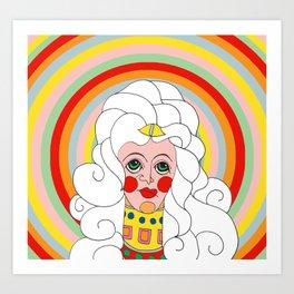 Theodora in Technicolor Art Print