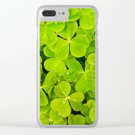 raindrops on clovers Clear iPhone Case