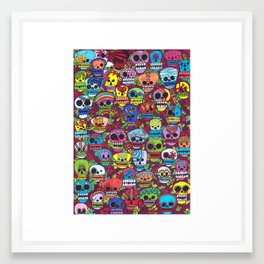 The day of the Dead Framed Art Print