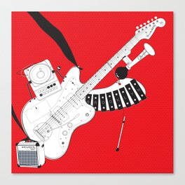 One-Man Band Canvas Print
