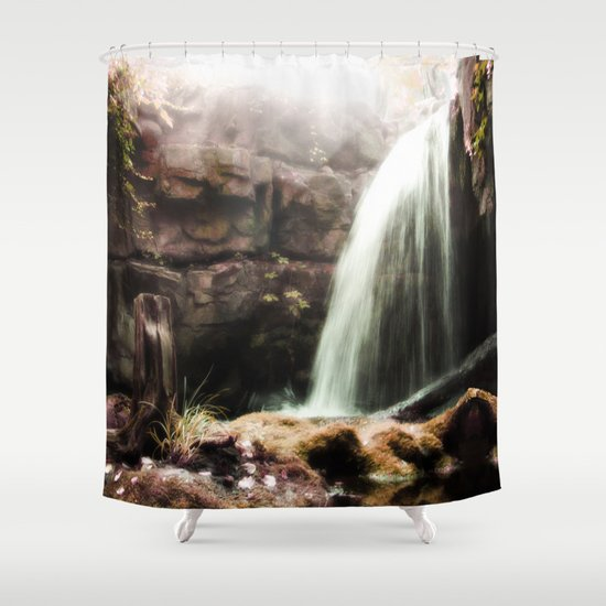 The Forgotten Cascades Shower Curtain