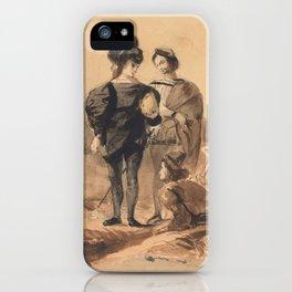 "Eugène Delacroix ""Hamlet and Horatio in the Graveyard"" iPhone Case"