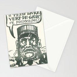 Advertisement le petit livre vert de gris ne Stationery Cards