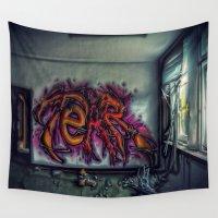 graffiti Wall Tapestries featuring Graffiti by Enri-Art