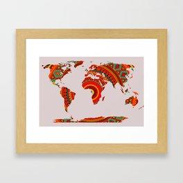 Mandala World Map Framed Art Print