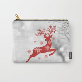 Vintage deers. Merry Christmas! Carry-All Pouch