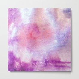 Watercolor Clouds Metal Print