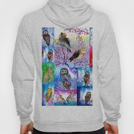 abstract owls Hoody