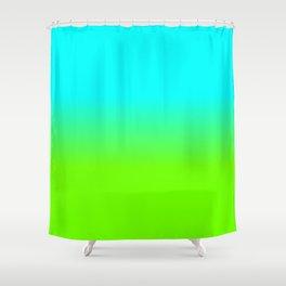neon green, neon orange, ombre shade, color fade, neon, green, yellow, orange, ombre, shade, color, Shower Curtain