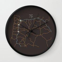 Oregon Highways Wall Clock