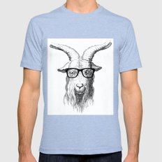 Hipster Goat Tri-Blue Mens Fitted Tee LARGE
