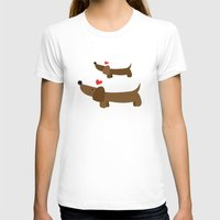 dachshund T-shirts featuring Dachshund by Jackiemtmtz