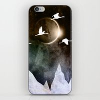 fly iPhone & iPod Skins featuring Fly High by Nireth