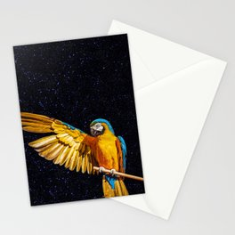 Brazilian Tropical Macaw photograph as known as Arara Azul. Stationery Cards