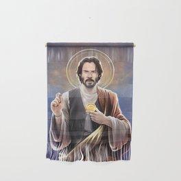Saint Keanu of Reeves Wall Hanging