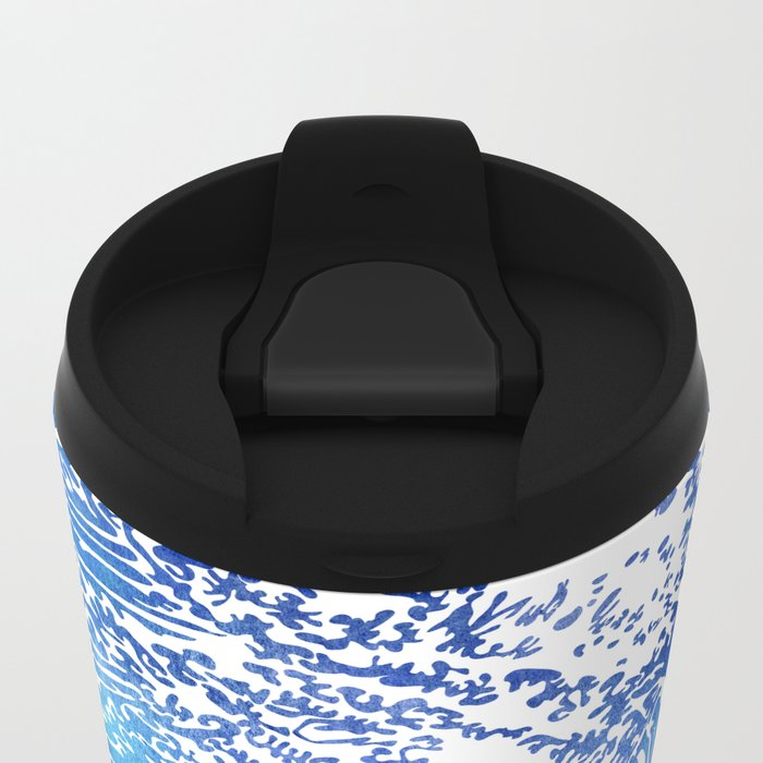 Blue Wave II Metal Travel Mug