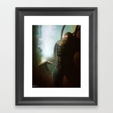 Abandoned Robot Framed Art Print