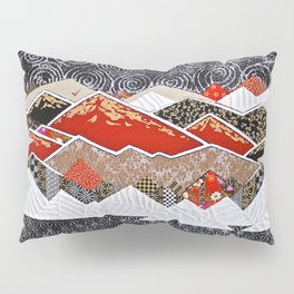 Rocky Mountains Wild (Red) - Landscape Pillow Sham